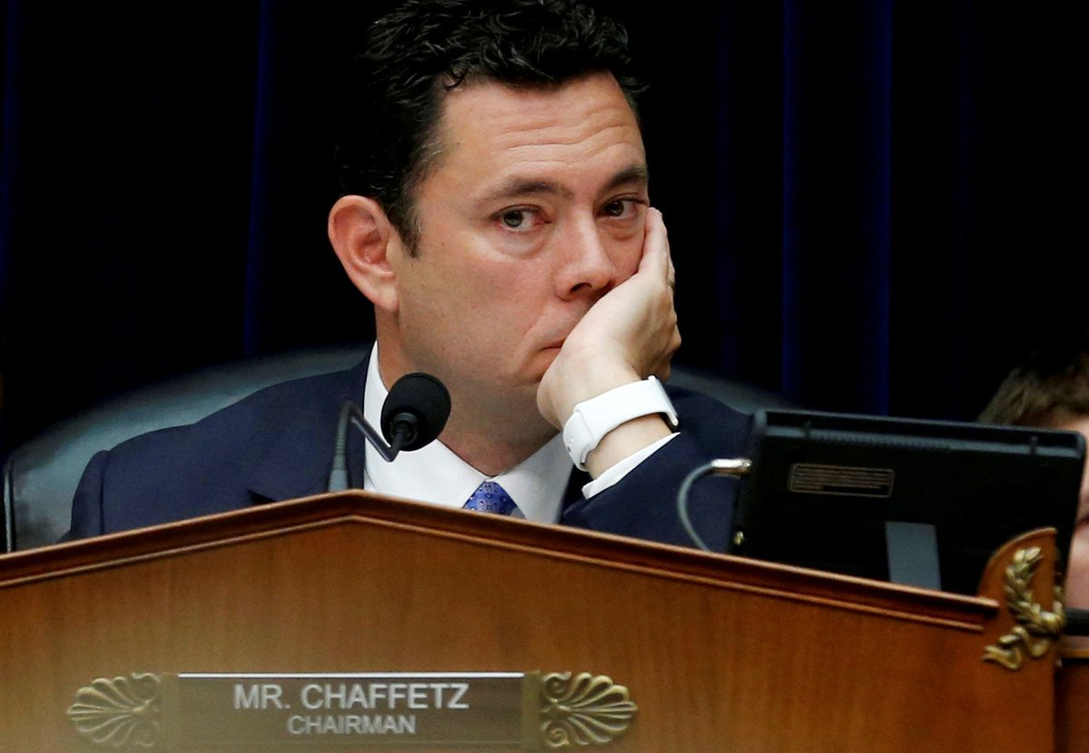 Jason Chaffetz, who relentlessly investigated Hillary Clinton, says he has no intention of reading her new book https://t.co/O0eKaNTG83