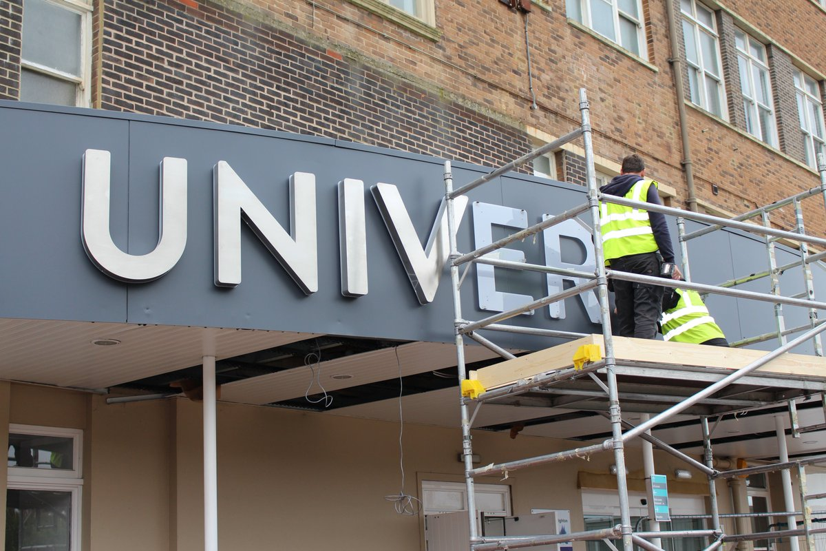 New signage going up today at our Mithras House building in #Brighton <br>http://pic.twitter.com/4GvDcN7nLt