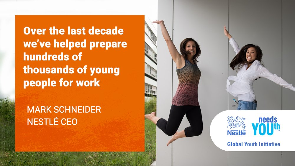 Nestlé's global youth initiative brings together all our efforts to support young people: https://t.co/H2YswVYlls #NestléneedsYOUth https://t.co/v4OP3IFInN
