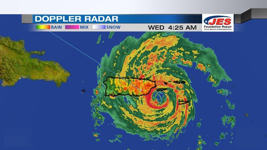 Hurricane Maria Puerto Rico : eye wall Hurricane Maria