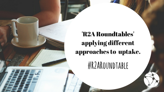 Are you ready for the next #R2ARoundtable? Join us on Thurs 28 September at 14:00 BST  http:// ow.ly/DwKa30fhm58  &nbsp;   #researchuptake #evaluation<br>http://pic.twitter.com/iQRw8zmaAq