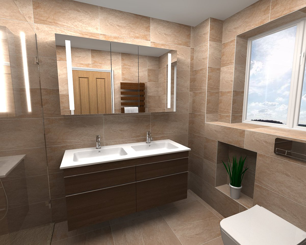 Latest @virtualworlds3D designs. Warm and homely bathroom and ensuite featuring @VilleroyandBoch @VADO_uk @RadoxRadiators #bathroomdesign <br>http://pic.twitter.com/17HsgCgKYD