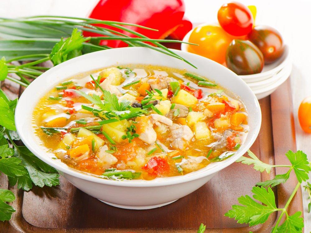 Овощной суп для кормящей мамы