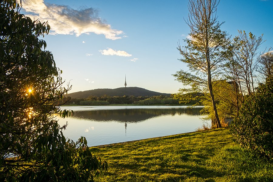 Just before sunset on a spring day in Canberra  http:// ow.ly/I3BT30fi126  &nbsp;   #australia #canberra #spring #blackmountain #wallart #HomeDecor<br>http://pic.twitter.com/5GLEYXAx1h