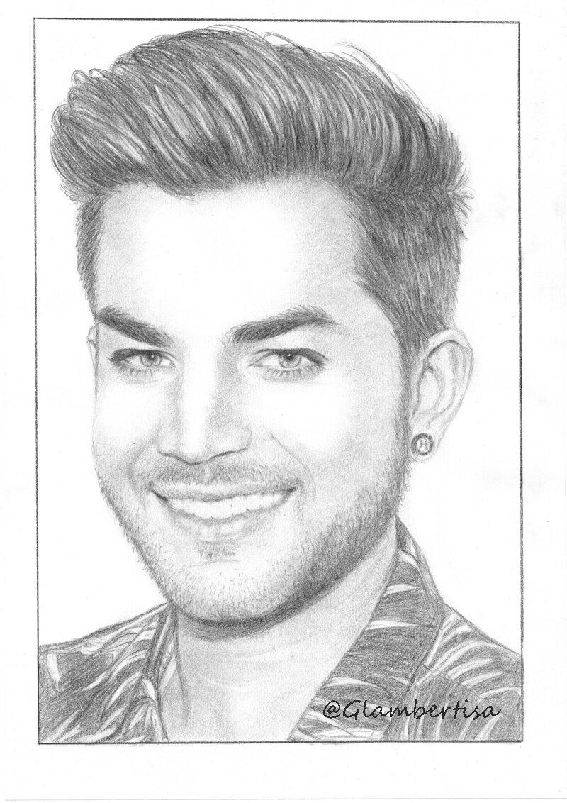Love this smile @adamlambert #AdamLambert #fanart #drawing<br>http://pic.twitter.com/qVWzCln3Te