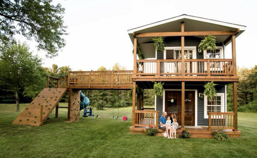 Dad builds ultimate playhouse for his daughters — and it will blow your mind