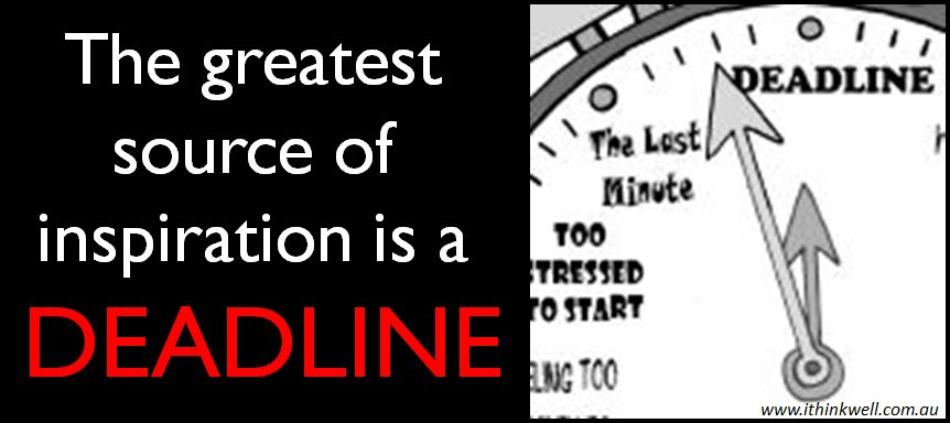 Waiting for inspiration? Set yourself a deadline. Aim to get a draft sent off by Friday And tell them to expect it on Friday #EMCR #ECRchat <br>http://pic.twitter.com/8mpHIaqrcQ