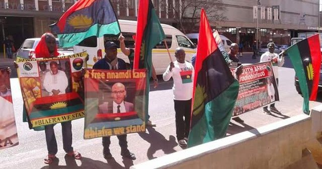 Watch Biafra protest against the Buhari military invasion of the South East zone in the United Nations Office New York via Operation Python Dance.