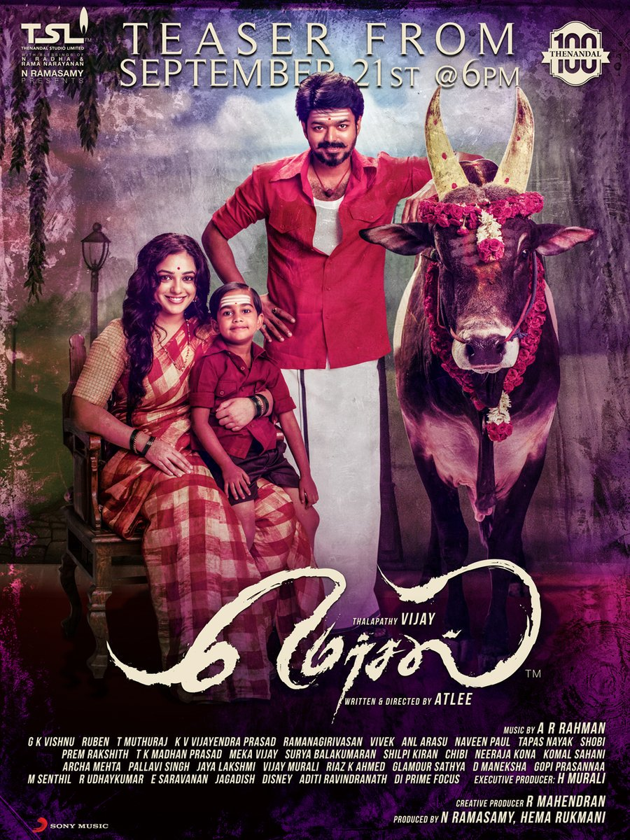 #Mersal  Teaser One Day To Go!!!!!!!! #MersalDiwali  in #Kerala <br>http://pic.twitter.com/XWlRaJgIVZ