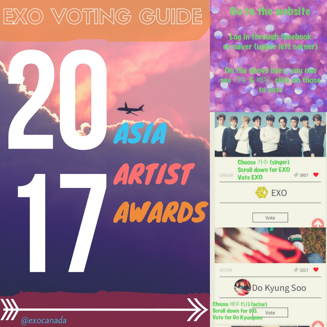 #EXO and #DO are nominated for Popularity Award at AAA 2017  We can do this, vote now!  1st round ends 10/01  http://www. asiaartistawards.com/vote/lists  &nbsp;  <br>http://pic.twitter.com/oIXDfkXJhX