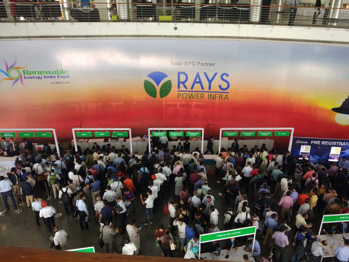 Tapping the most influential #industry #RenewableEnergy @REIndiaExpo @RaysPowerInfra @ubm #energystorage #expo #reiregistration<br>http://pic.twitter.com/qet3wo3ekj