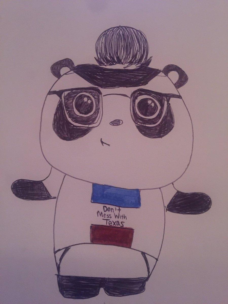 Hey I drew you as a panda #fanart <br>http://pic.twitter.com/dkpAbVA63G