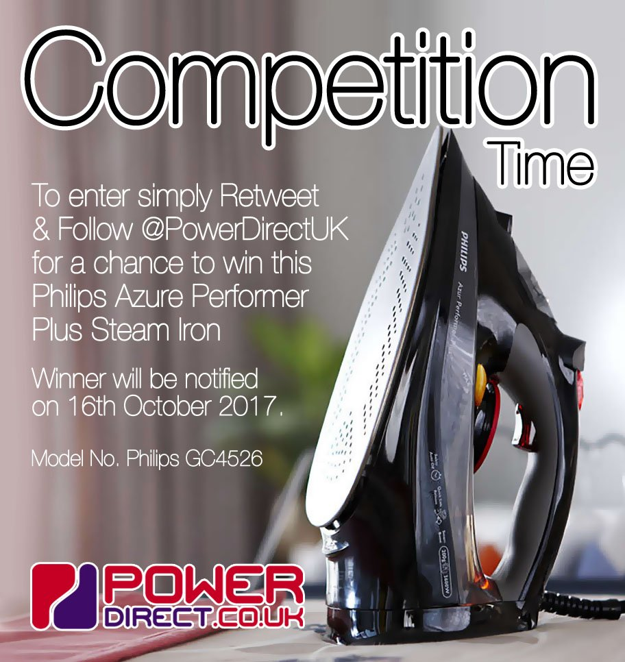 #WinItWednesday! Enter our #Free #Competition #Giveaway for a Chance to #Win a Philips Performer Steam Iron. #RT &amp; #Follow @PowerDirectUK<br>http://pic.twitter.com/XHNgxEwFc6