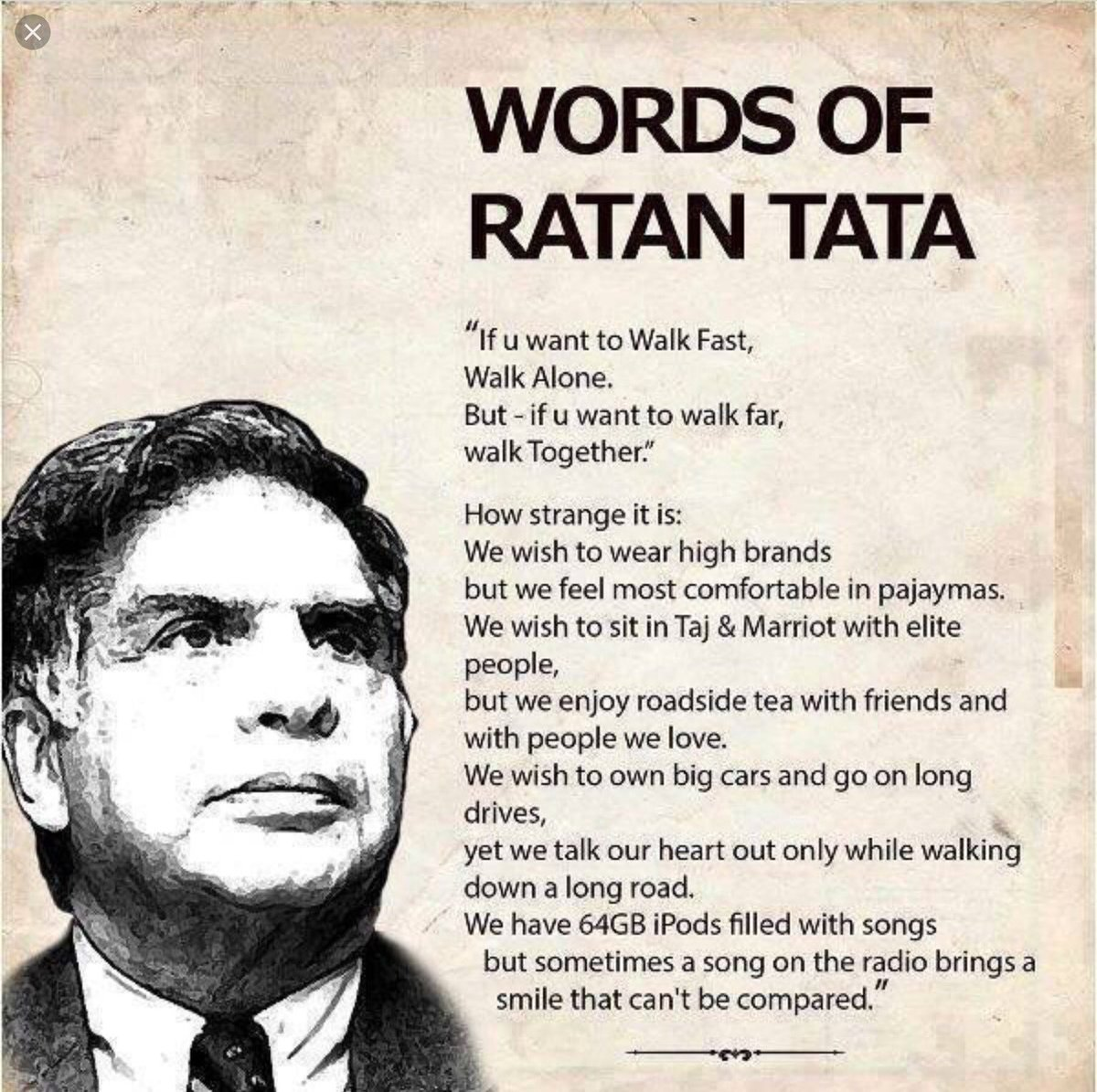 While Tata Steel &amp; Thyssenkrupp merger making headlines,here&#39;s some pearls of wisdom by Ratan Tata   #WednesdayWisdom  #WednesdayMotivation <br>http://pic.twitter.com/Vzzrm9O1cY