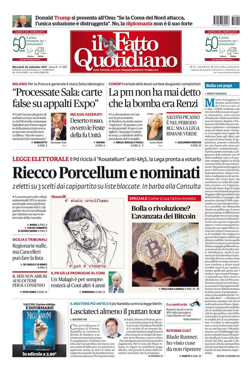 RIECCO PORCELLUM E NOMINATI continua su: https://t.co/Zg7CjPLPQP  #FattoQuotidiano  #20settembre #Pd #Renzi #Lega