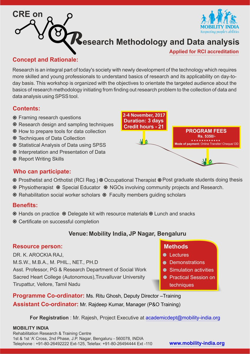 Mobility India On Twitter 3 Days Cre On Research Methodology And