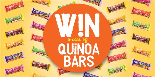 #WIN a case of quinoa bars!  #RT &amp; follow us to enter  Ends 21/9/17 at 9am. #winitwednesday #competition #comp #giveaway #goodies #prize<br>http://pic.twitter.com/DGMwPDk8x4