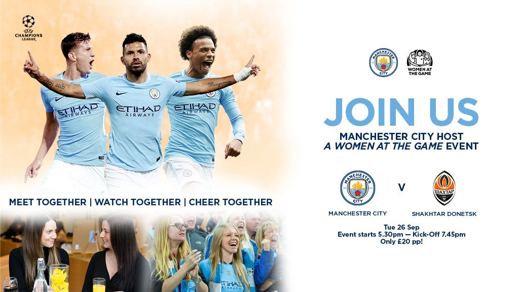 On Tues 26 Sept, before our first #UCL home game of 2017/18, we&#39;re hosting a @womenatthegame event!  MORE:  http:// bit.ly/2hfRwav  &nbsp;   #mancity<br>http://pic.twitter.com/QIfYfWJUxh