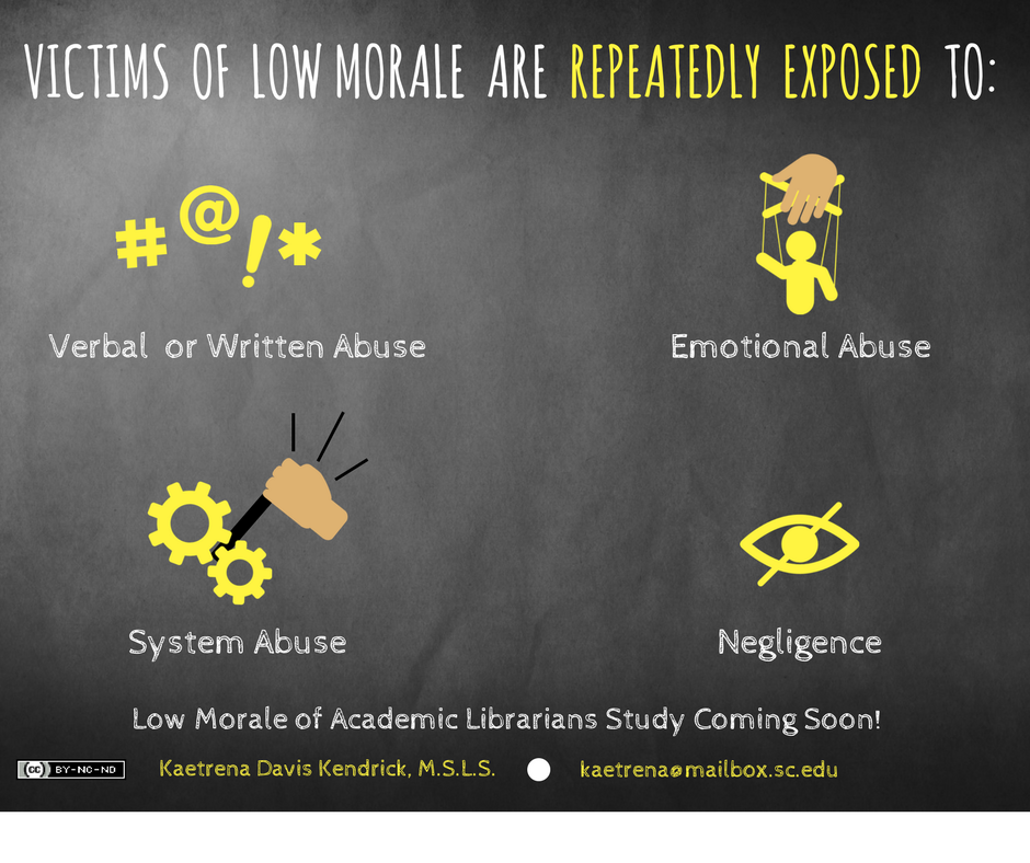 Two more infographics from my study (originally shared via FB). #lowmorale #academiclibraries #librarians<br>http://pic.twitter.com/5Q89jxUnO0
