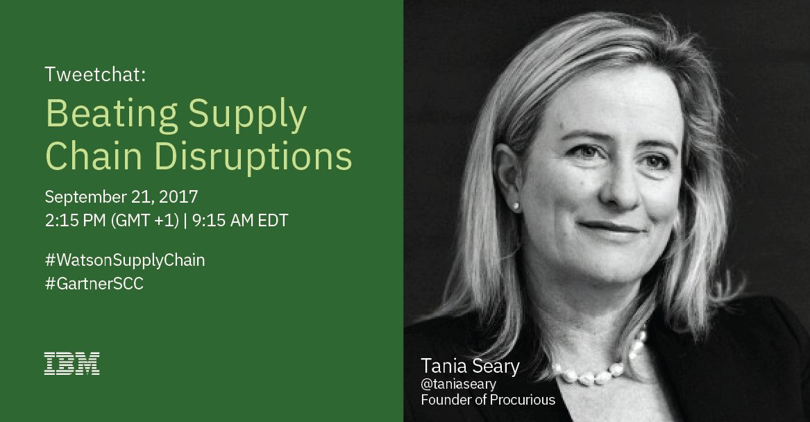 Join me this time tomorrow for tweetchat on how to beat #supplychain disruptions #WatsonSupplyChain @IBMSupplyChain  http:// ibm.co/2xjp9Oz  &nbsp;  <br>http://pic.twitter.com/vckdN2b6Zu