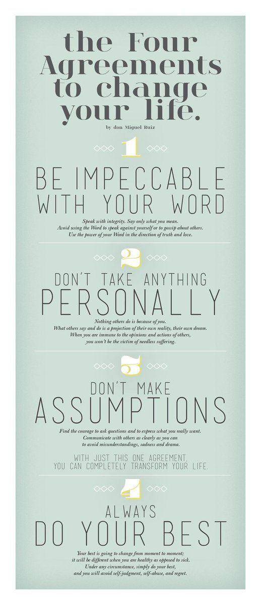 Graduate Wellness On Twitter The Four Agreements By Don Miguel