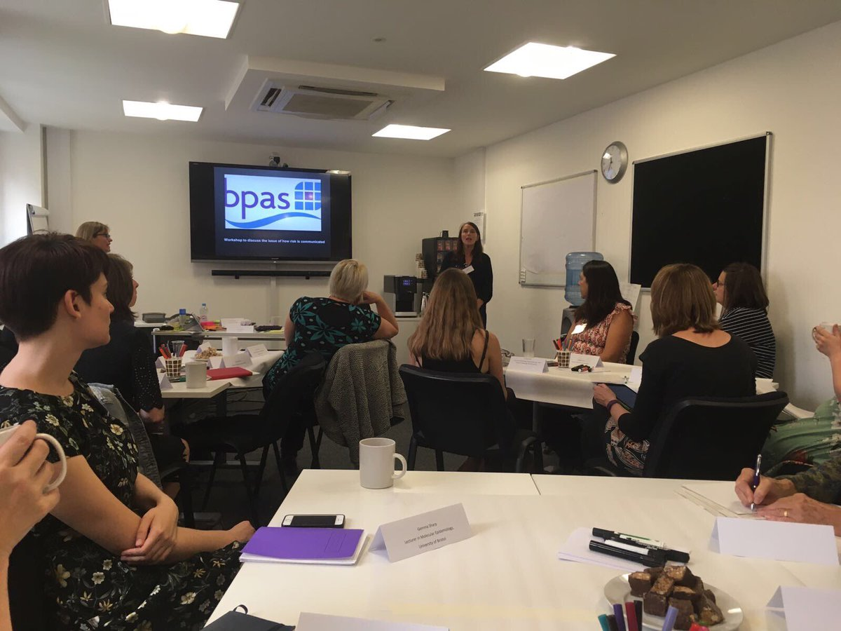 #chairperson caitlin is currently at @bpas1968 round table workshop exploring the science and communication of risk of pregnancy #pregnancy <br>http://pic.twitter.com/055PKj3oFb