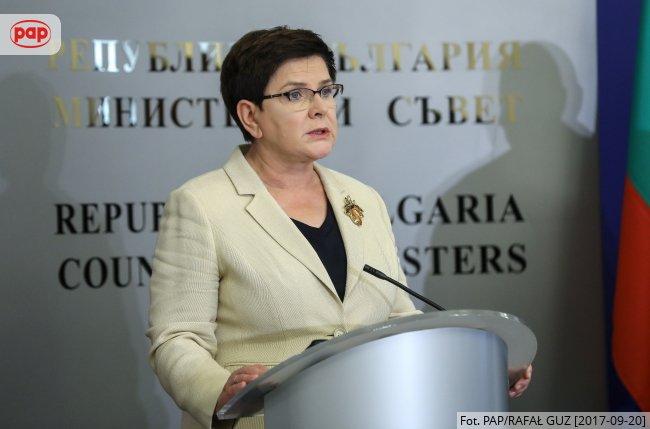Premier @BeataSzydlo: its commitment to the protection of the #UE external borders. #wieszwiecej #Bulgaria @BoykoBorissov 2/2<br>http://pic.twitter.com/rUPMrjoy2U