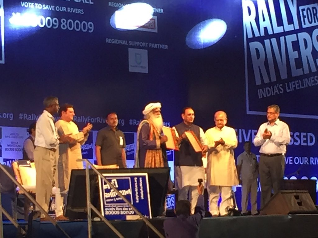 Rally For Rivers On Twitter Gujarat Govt Isha Foundation Sign