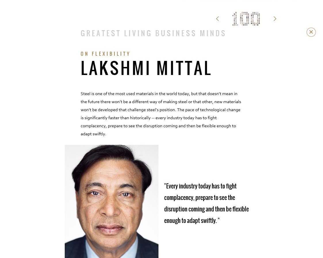 lakshmi mittal leadership skills The lakshmi mittal south asia short listed candidates will be asked to submit a 2 minute video sharing their leadership experience and why they should be.
