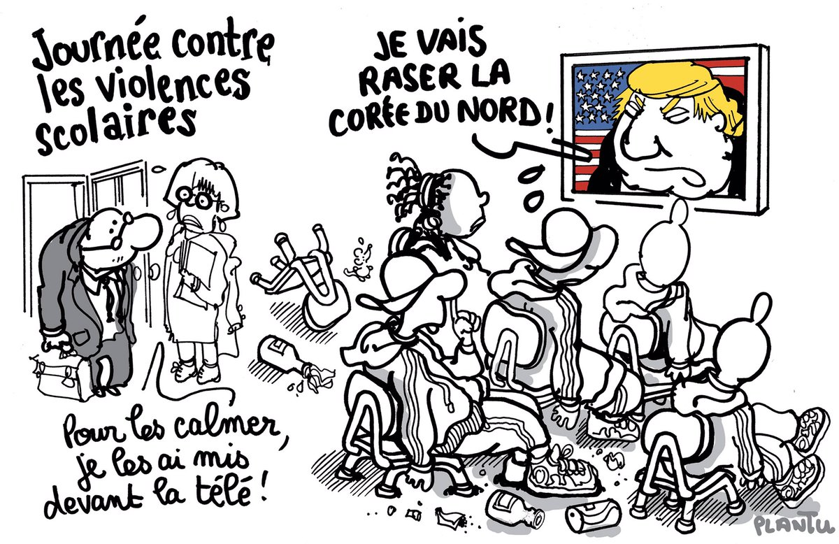 JOURNÉE CONTRE LES VIOLENCES SCOLAIRES: le dessin publié dans Le Monde de ce mercredi 20 septembre