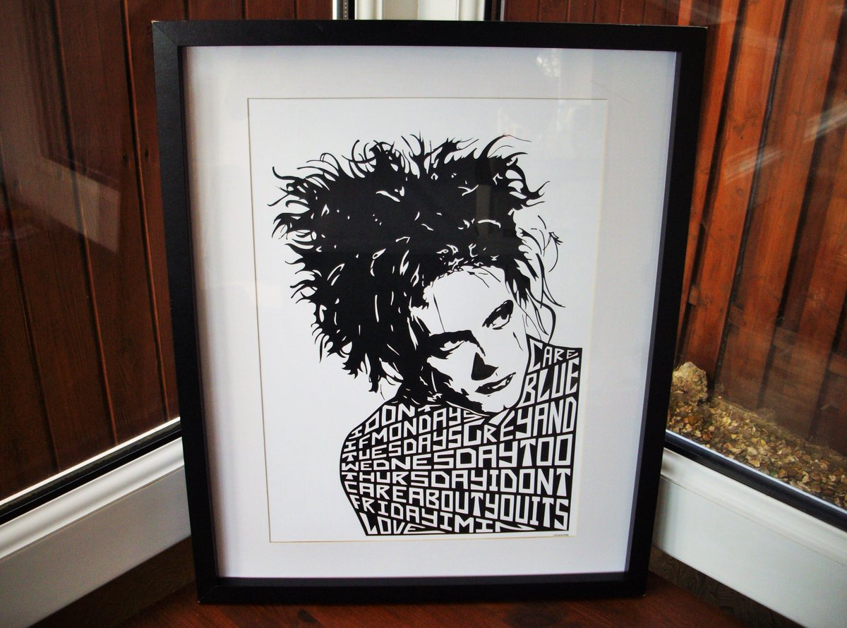 A3 silk paper prints now available! :) #thecure #robertsmith #fridayiminlove #illustration #typography  #artprint #art #print  #ebay<br>http://pic.twitter.com/ntwpTwbkjC