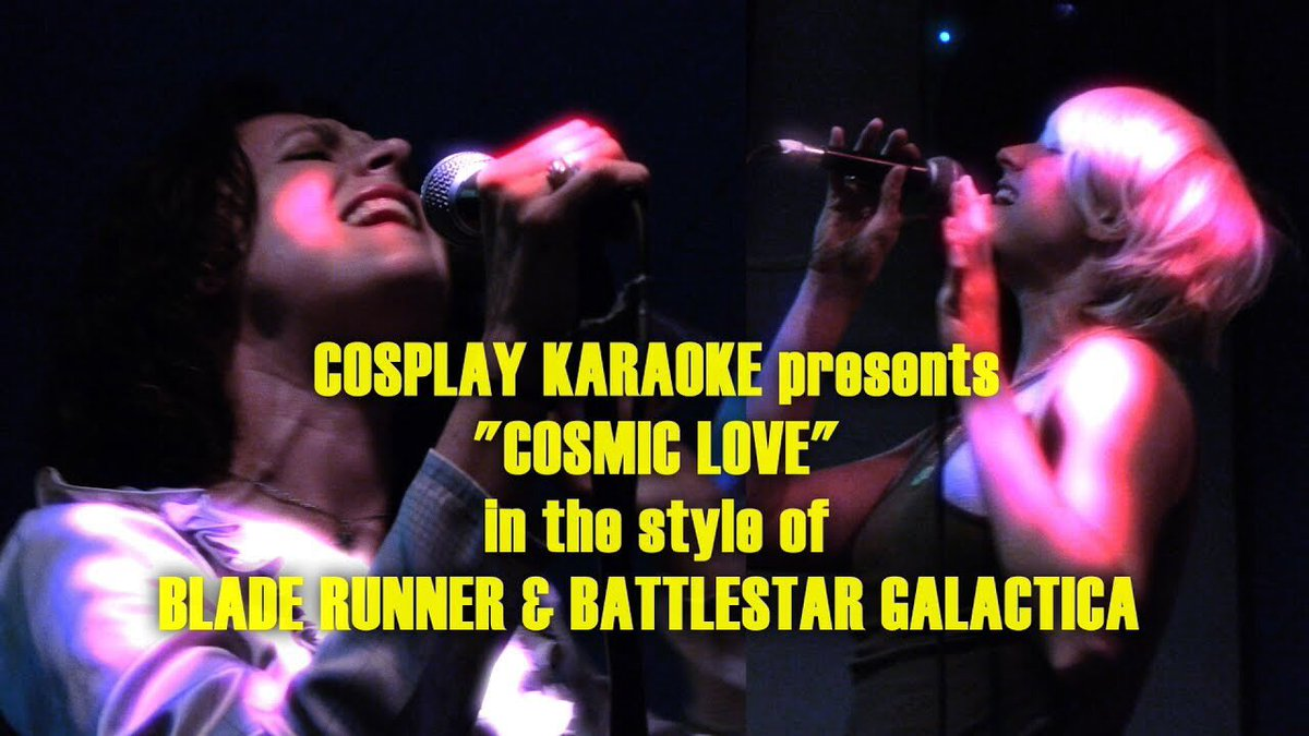 New #CosplayKaraoke with #Starbuck &amp; Rachael from @bladerunner &amp; the @flo_tweet song &quot;Cosmic Love!&quot; #BSG #scifi   https:// youtu.be/OBG8FLsTBfY  &nbsp;  <br>http://pic.twitter.com/LqniQGw83U