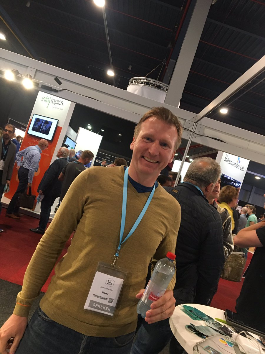 Steve Dodson, tech lead ML speaking @12.00, lezingzaal 6 join us to learn more about #machine learning #elasticsearch #bigdataexponl<br>http://pic.twitter.com/LI8yee6zgb