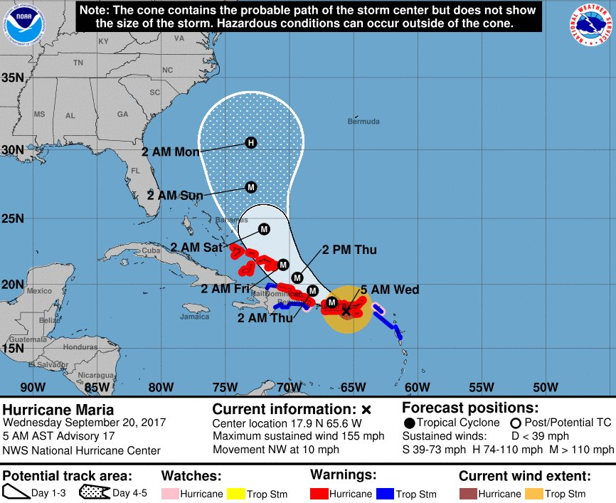 Hurricane Maria weakens to a Category 4 storm  https://t.co/S7zBd5Stlv
