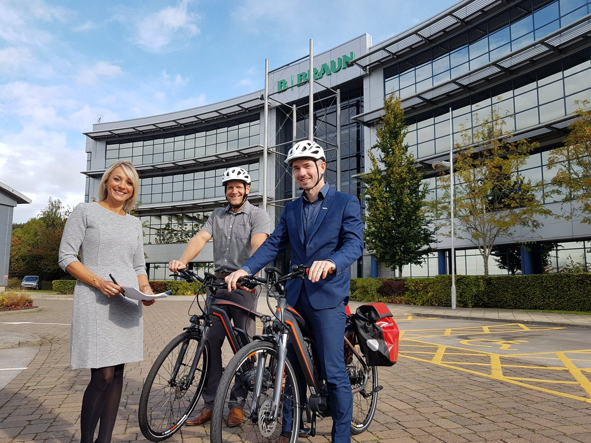 .@BBraunUK @Inmotion__ @sheffchamber @movemoresheff photo shoot for new campaign on pool e-bike scheme for staff at #sheffieldissuper HQ <br>http://pic.twitter.com/PZ1u6R25NU