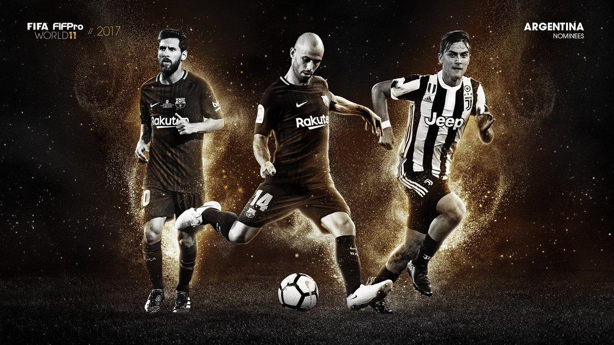 Messi, Dybala y Mascherano, nominados al FIFPro World XI