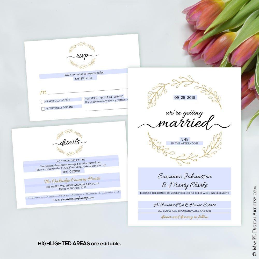 Editable wreath Wedding Invitation template set  http:// etsy.me/2n34gmL  &nbsp;    #editable #wreath #mywedding #Invitation #details #RSVP #cards<br>http://pic.twitter.com/VSIfuI4sRQ