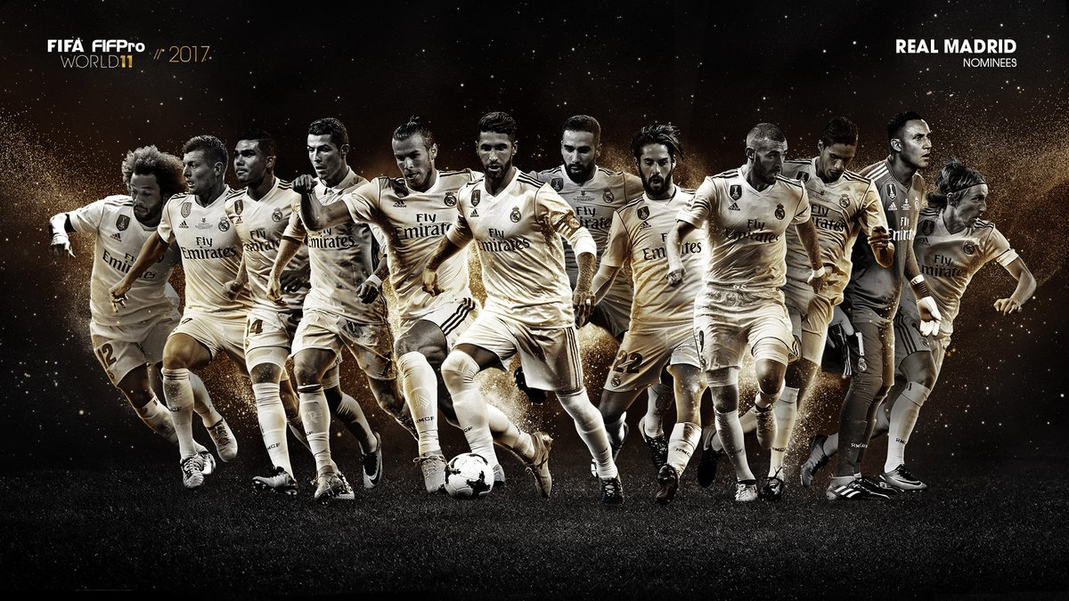 12 Real Madrid players have been nominated for the FIFPro World 11—mor...