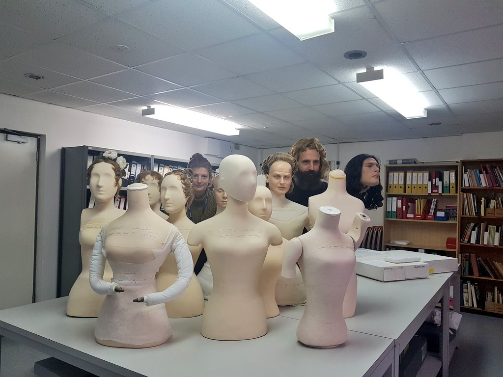 Can anyone spot @melinaplottu and @Fashion_Curator in the forest of mannequins??? #conservation #planning #BehindtheScenes<br>http://pic.twitter.com/z81Vn9tlfu