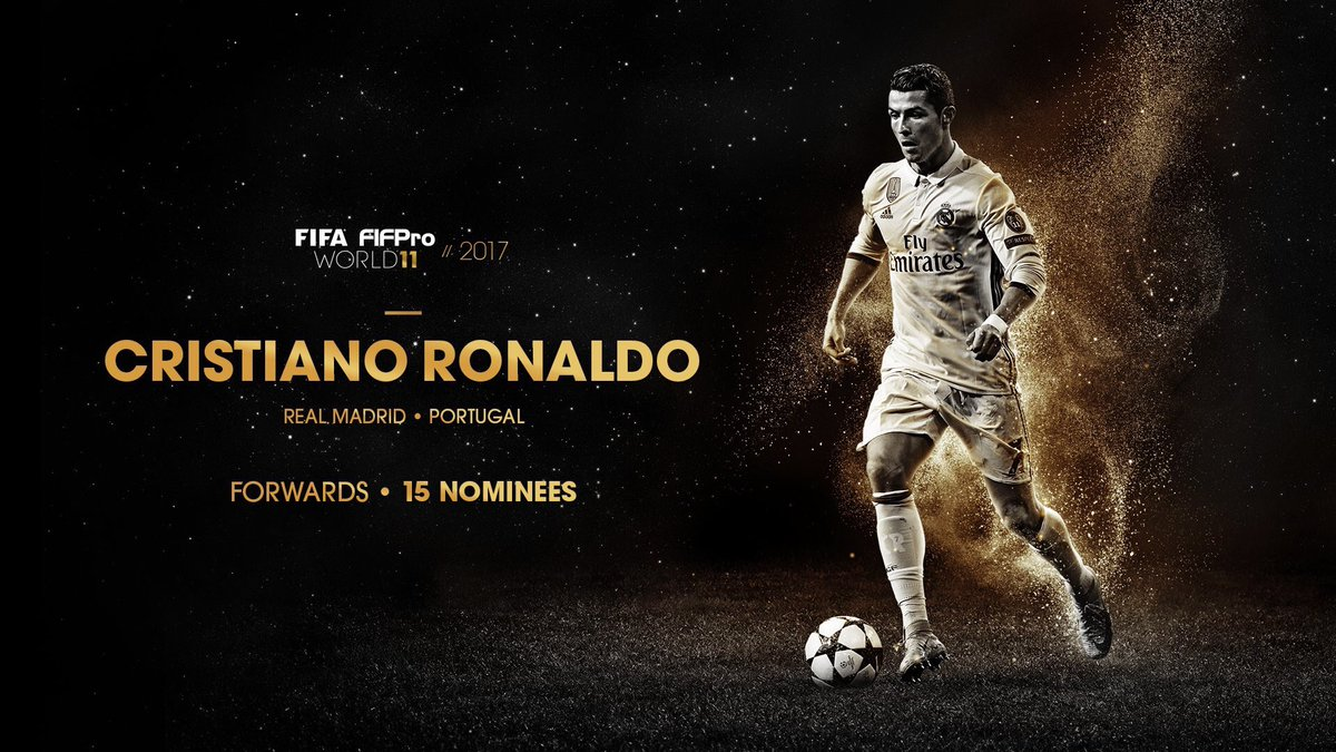 Cristiano Ronaldo is among the 55 players nominated for the 2017 FIFA FIFPro World 11. #HalaMadrid #ForçaPortugal <br>http://pic.twitter.com/W0BI5pPUPo