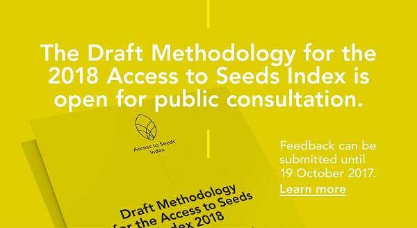 Provide your feedback on #Access to #Seeds #Index | #foodsecurity | #SDG&#39;s #ZeroHunger &amp; private sector |  http:// bit.ly/2xlLGtt  &nbsp;   @ATSIndex<br>http://pic.twitter.com/hW2xHrtePY
