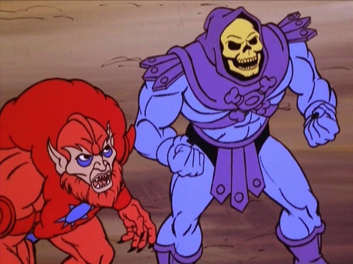skeletor vs beast man - 842×842