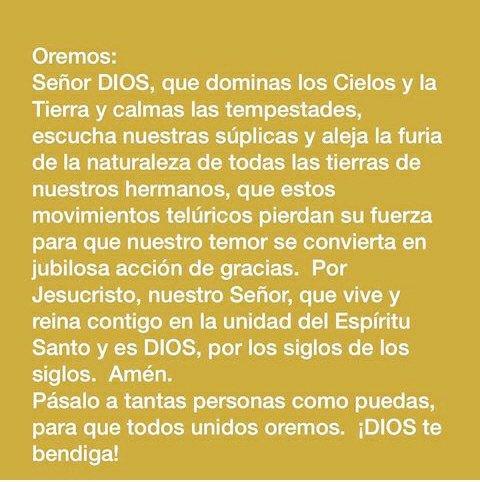 Oremos tod@s #BuenosDias #Sismo #FuerzaMexico<br>http://pic.twitter.com/oI8hc8wFQh