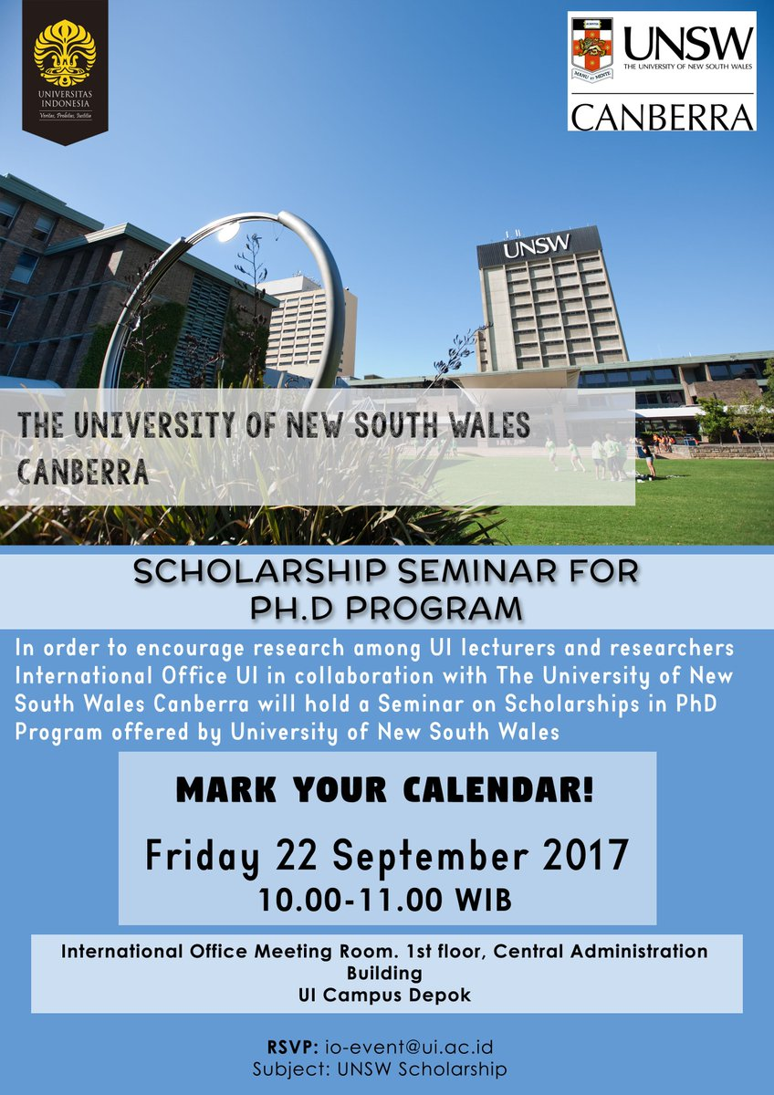 Rsvp io event ui ac id http international ui ac id news upcoming event unsw canberra scholarship seminar for ph d html pic twitter com kq2uypp3pp