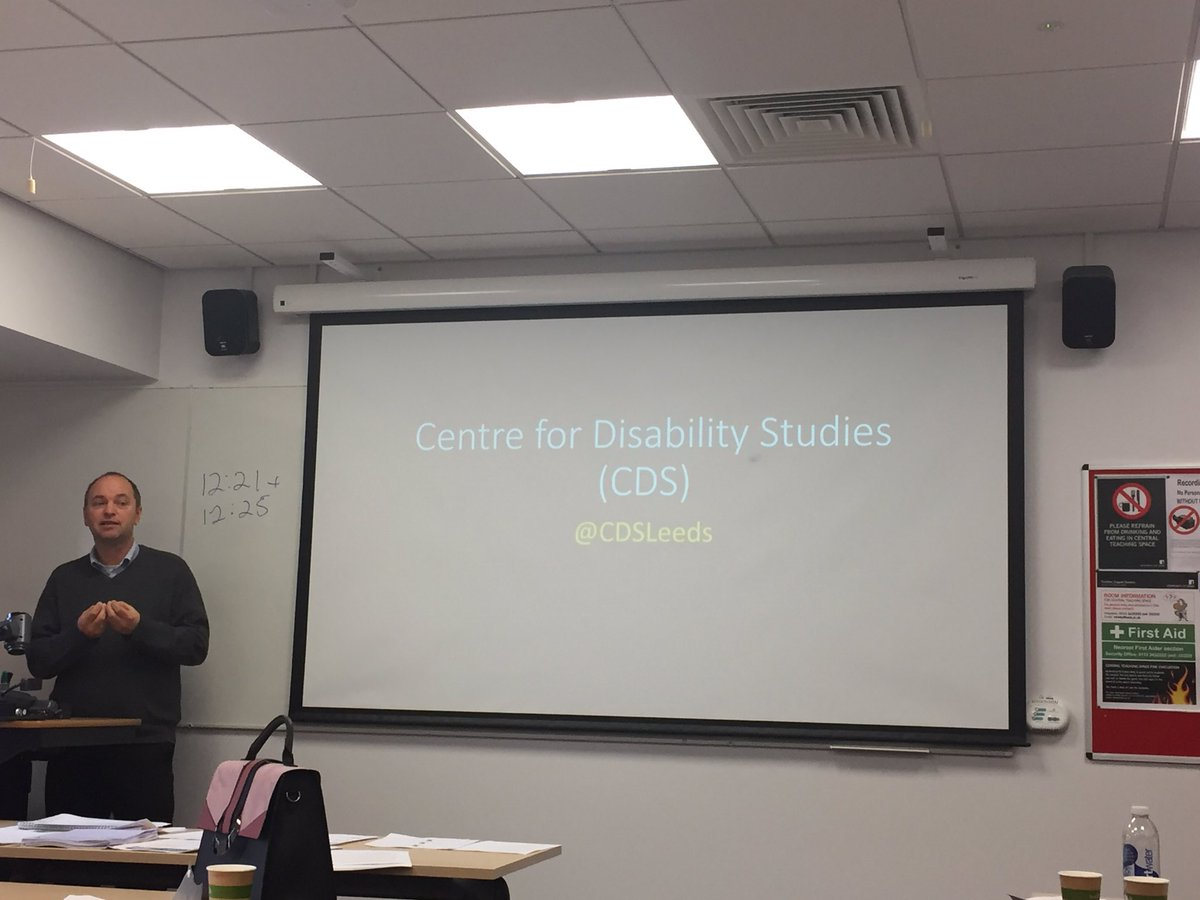 Prof Mark Priestley presenting on how our @SSPLeeds PhD students can get involved &amp; be part of @CDSLeeds #Disability #phdlife<br>http://pic.twitter.com/lpkp2a6bEq