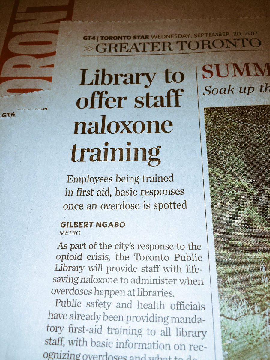 Proving: a) how serious and growing the #opioid crisis is; b) the invaluable role #libraries play providing essential community services.