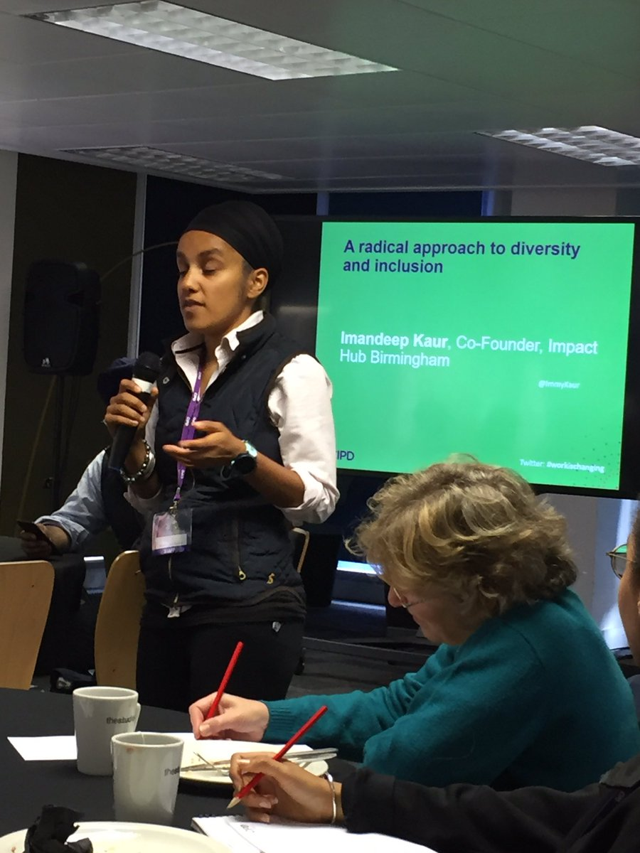 .@ImmyKaur: &quot;How do we make #diversity &amp; #inclusion a part of the fabric of organisations&quot; @CIPD #WorkIsChanging<br>http://pic.twitter.com/o47W5oQI6s