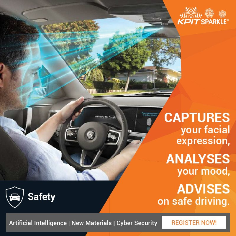 An in-car camera in your vehicle can advise you against road rage. Bring such #ideas to #KPITSparkle 2018.  https:// goo.gl/9A1xCg  &nbsp;  <br>http://pic.twitter.com/2fXpn75t2Q