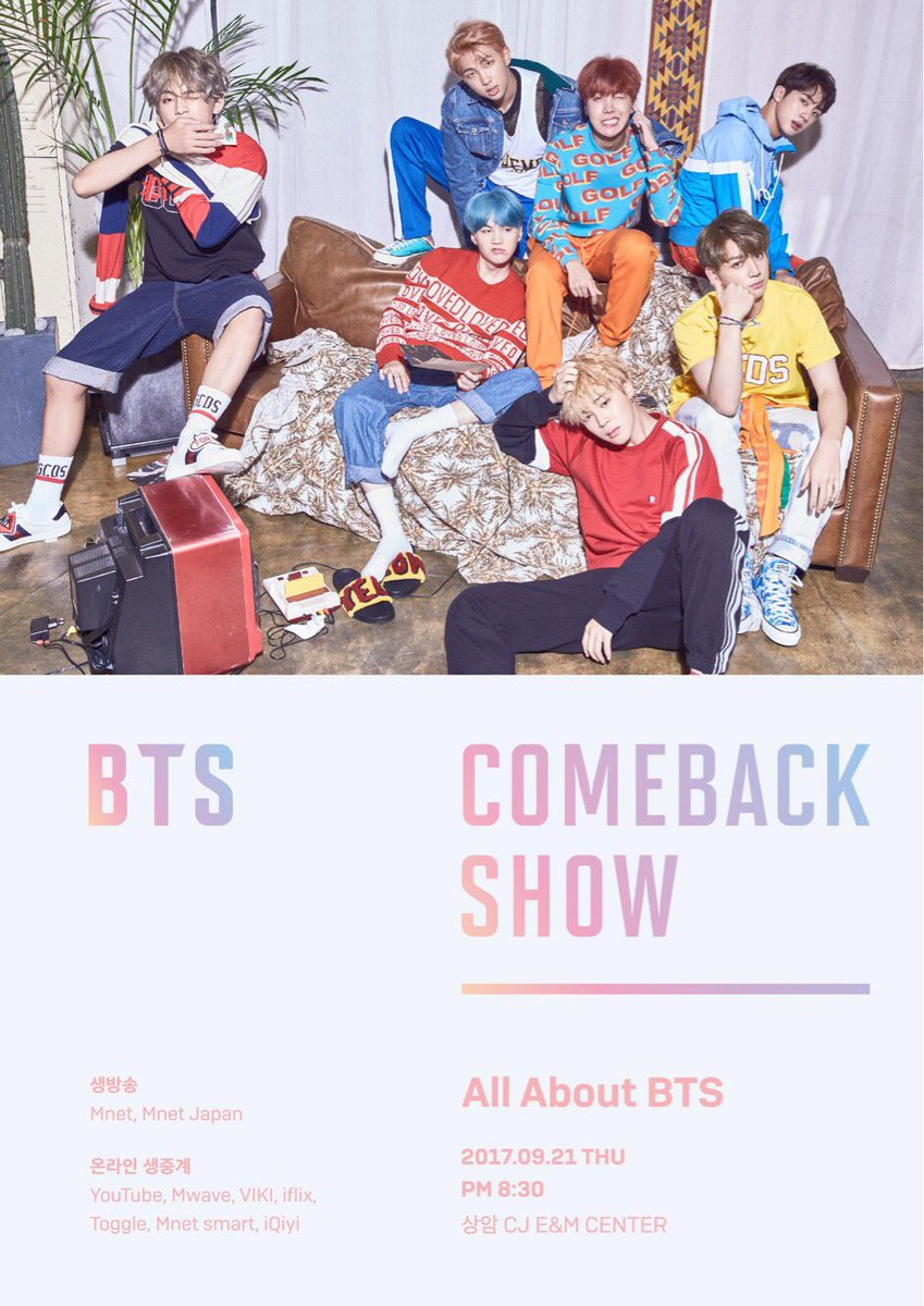 #BTS Comback Show will go LIVE tomorrow @4:30AM(PST)/7:30AM(EST). Are you ready ARMYs? Stay tuned!