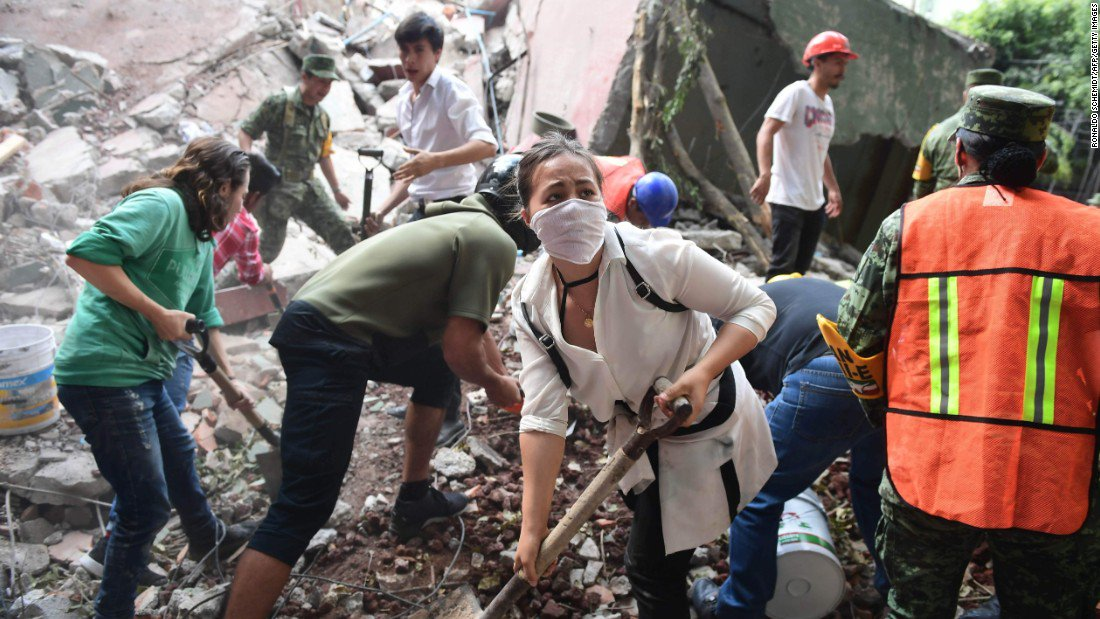 A 7.1-magnitude earthquake hit Mexico on Tuesday, leaving hundreds of people dead and dozens missing. Live updates: https://t.co/DCA2M3dHF9